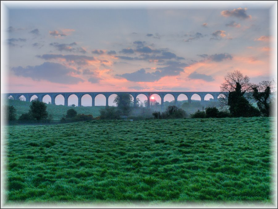 Sunrise over Craigmore Viaduct