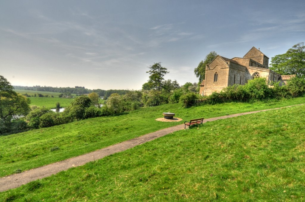 Wadenhoe Church and the River Nene
