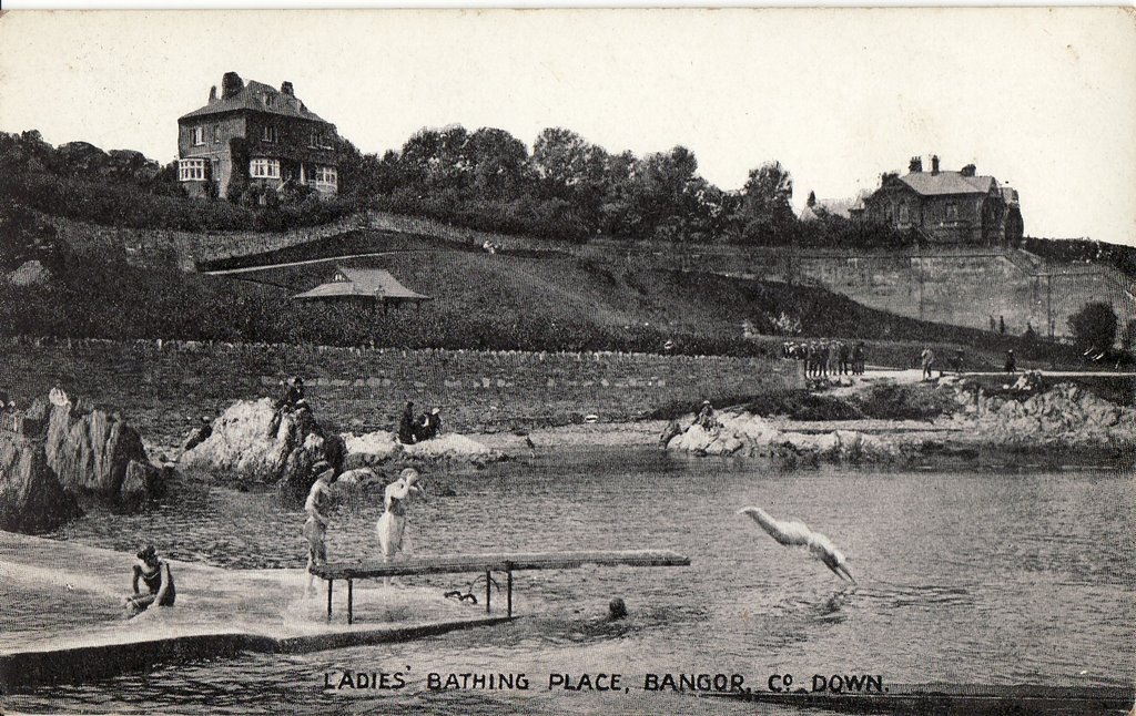 Bathing place - Old Card