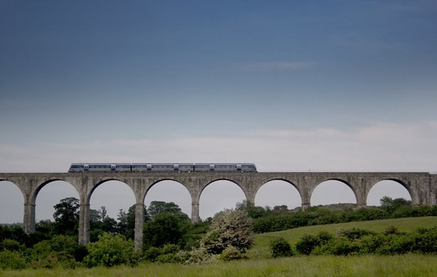 Summer Evening Translink Heads South Over The Craigmore Viaduct, Co Armagh, Northern Ireland