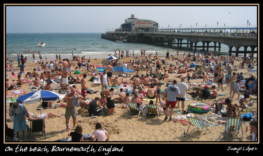 On the beach, Bournemouth, England