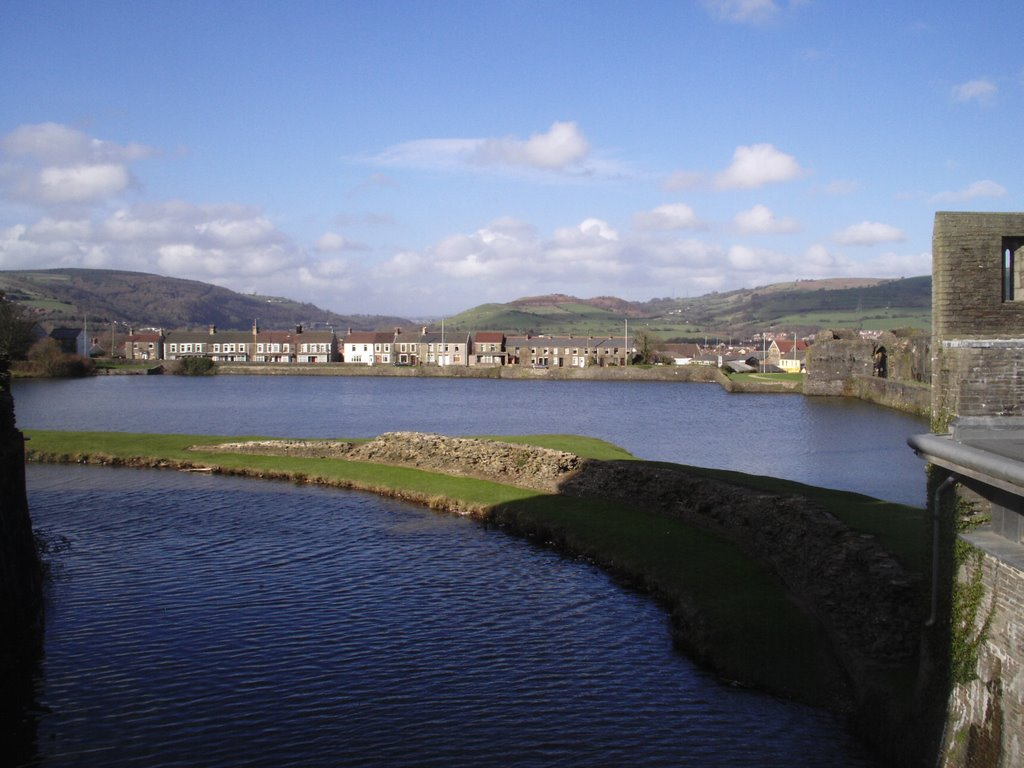 Caerphilly Castle inside the Northern defense