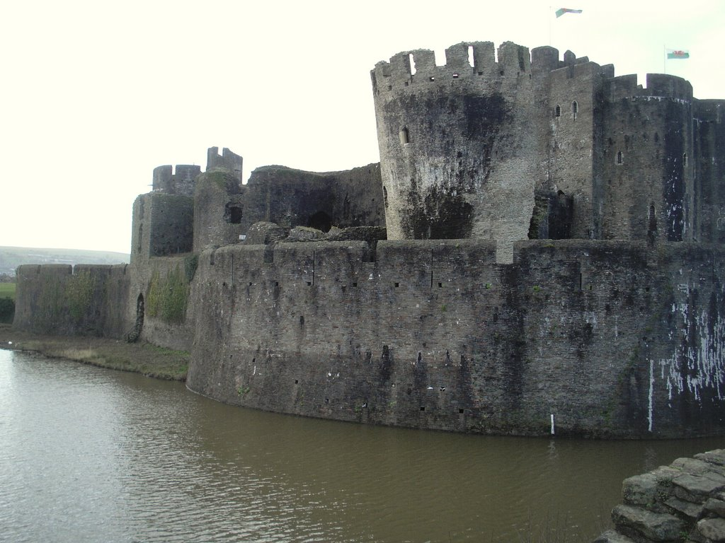 Caerphilly Castle Southern outer defences
