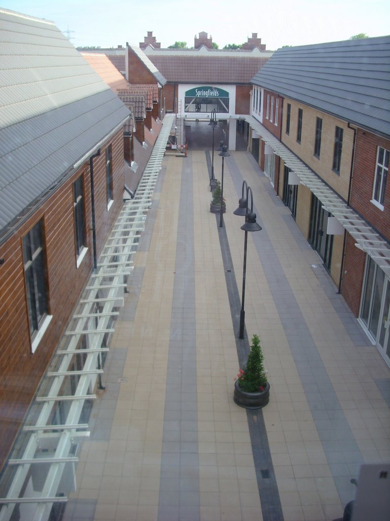 Springfield Outlet Shopping Centre Spalding,  from the new Travelodge