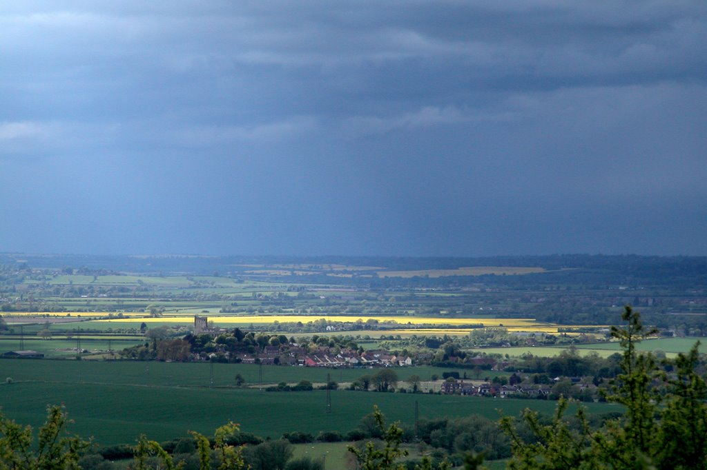 The view north west from Dunstable Downs