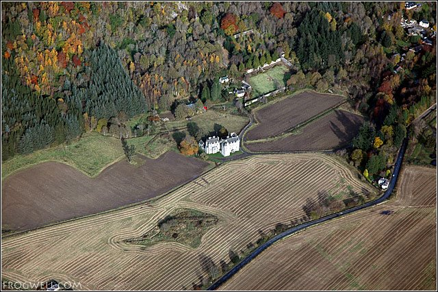 Castle Menzies from the air