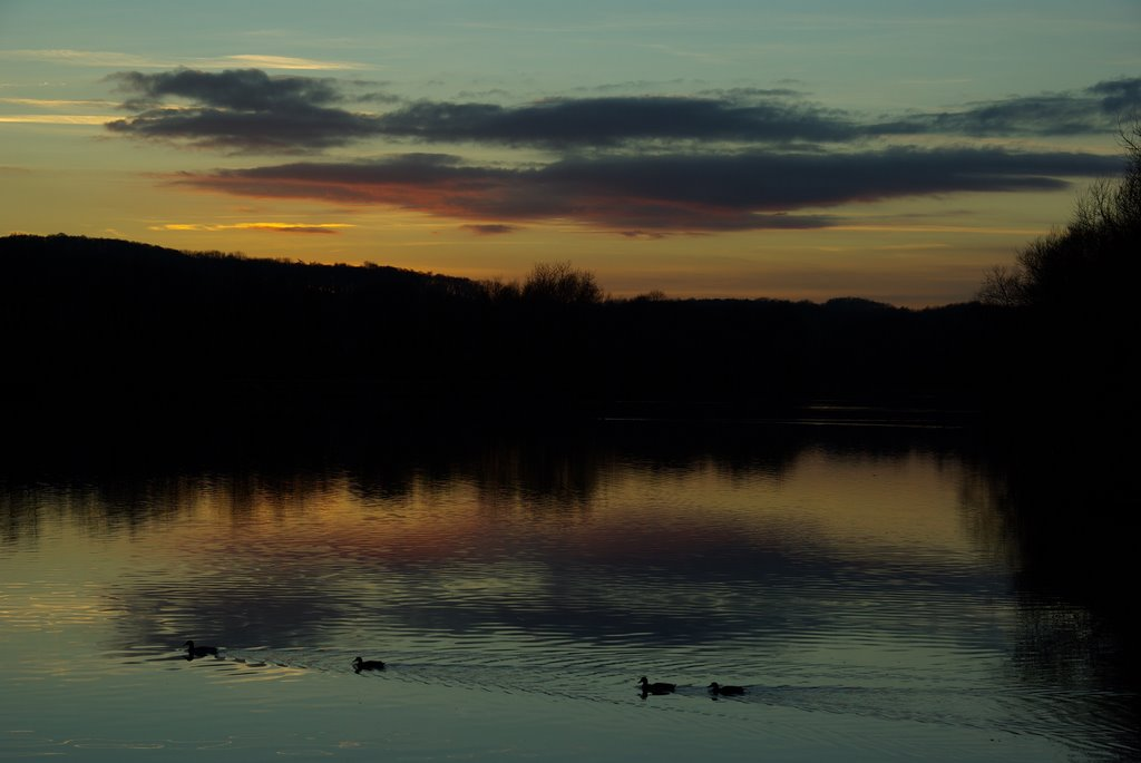 Sunset at Codnor Park Reservoir