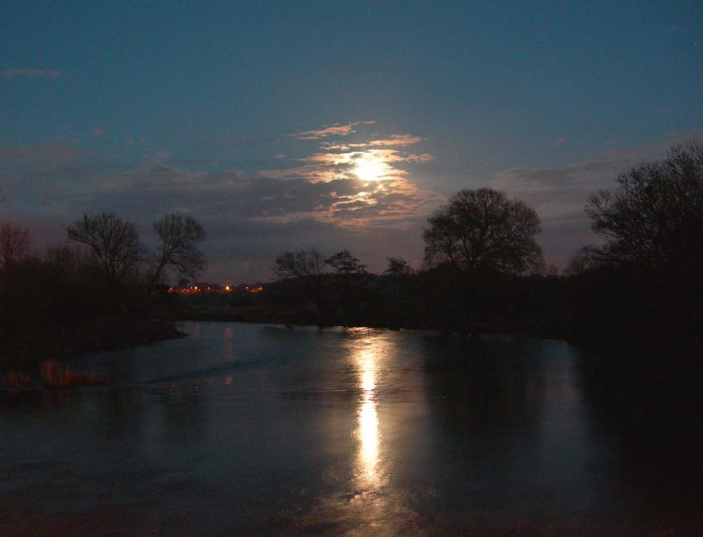 Moonrise over the Stour at Longham