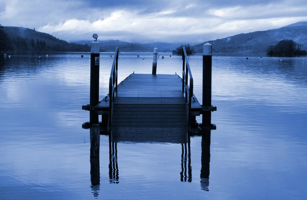 FEELING BLUE. WINDERMERE. LAKE DISTRICT
