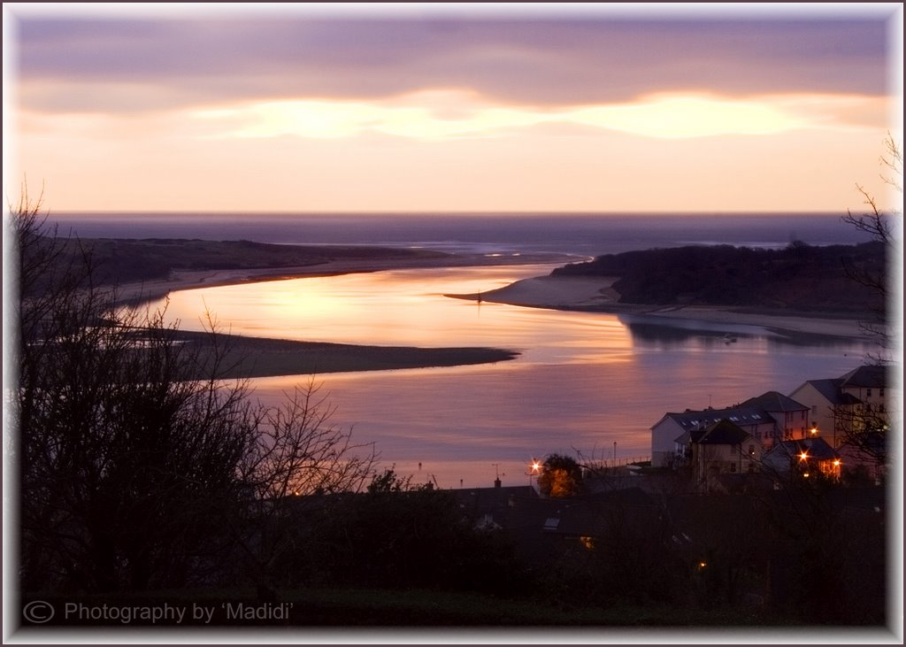 Dundrum Bar Mouth at Sunrise from Dundrum Castle