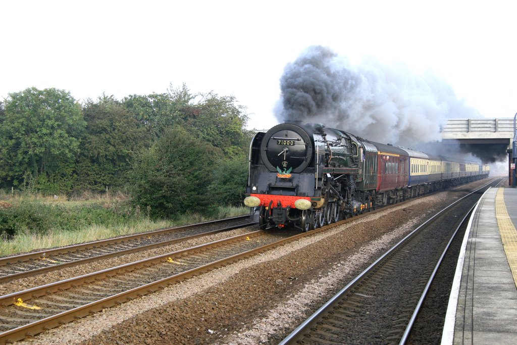Class 8P 4-6-2 No.71000 DUKE of GLOUCESTER passing Ulleskelf with a York