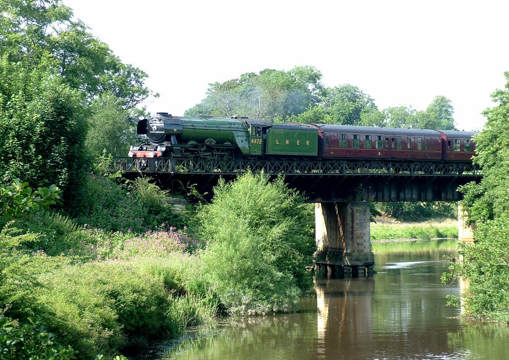 4472 crossing the River Derwent at High Hutton 2nd August 2005