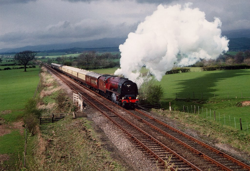 Coronation Class No.46229 DUCHESS of HAMILTON at Keld north of Appleby