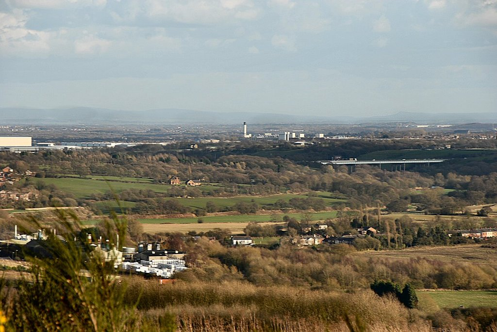 M6 Gathurst Viaduct from Parbold Hill