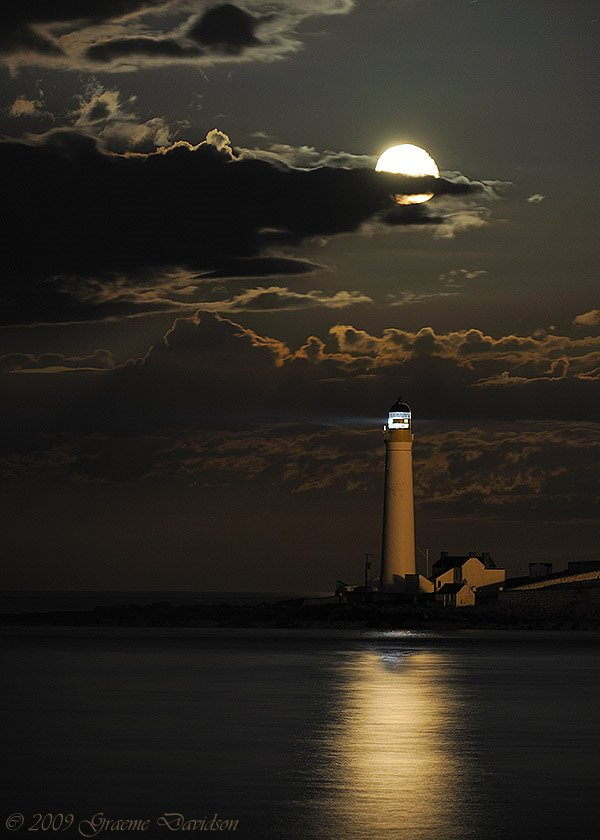 Full Moon at Scurdie Ness Lighthouse