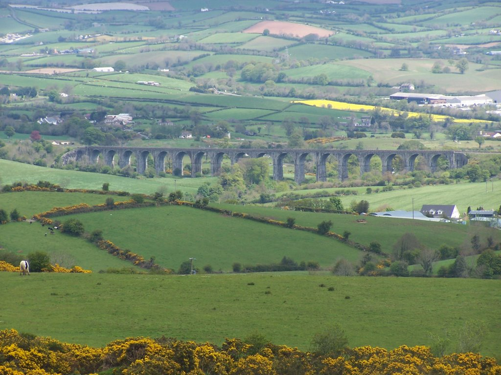 Craigmore Viaduct from Camlough Mtn