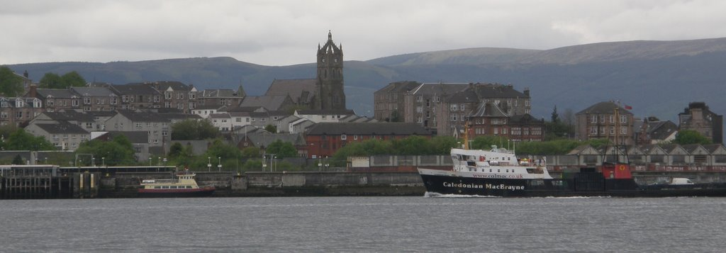 Gourock Town and Harbour, from Battery Park
