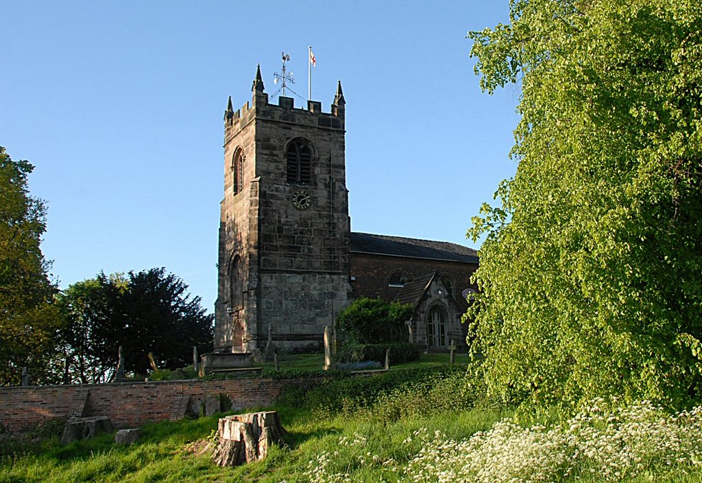 All Saints Church. Church Lawton