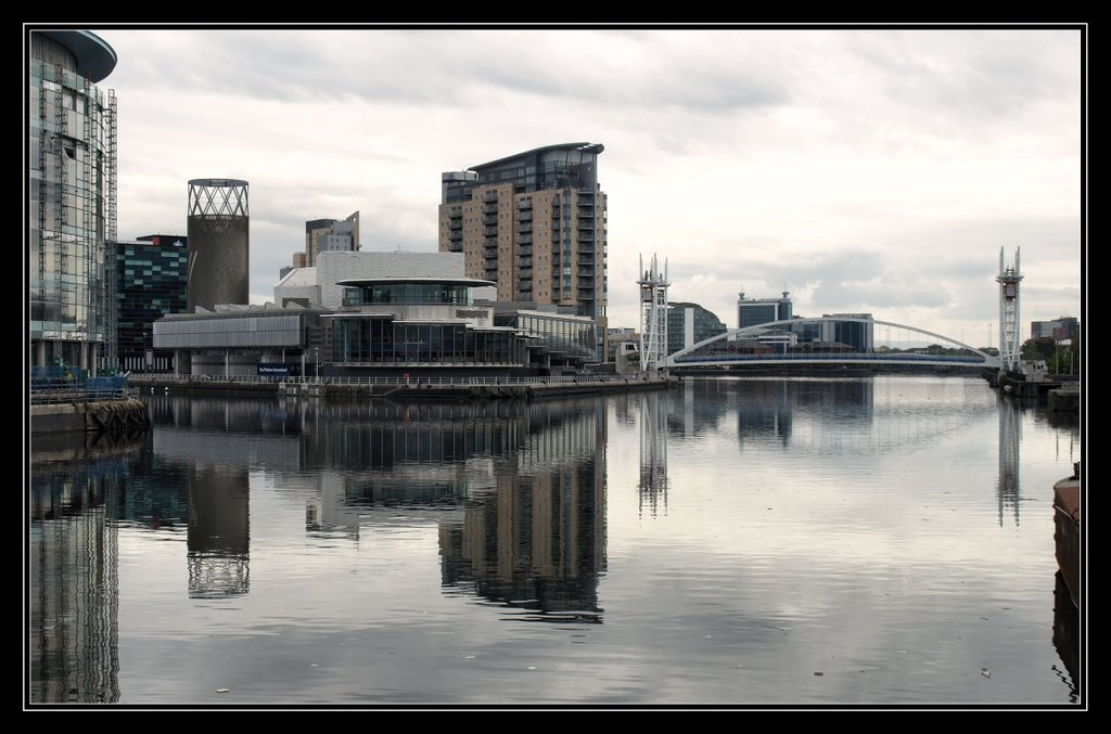 Salford Quays from the water