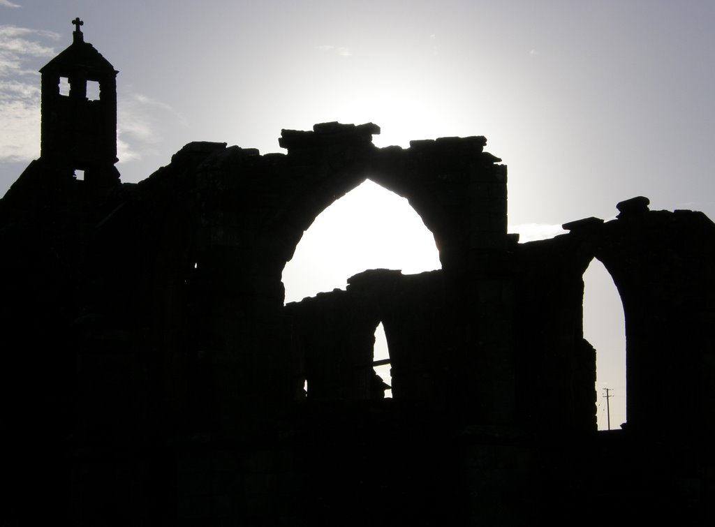 Silhouette of Crossragual Abbey