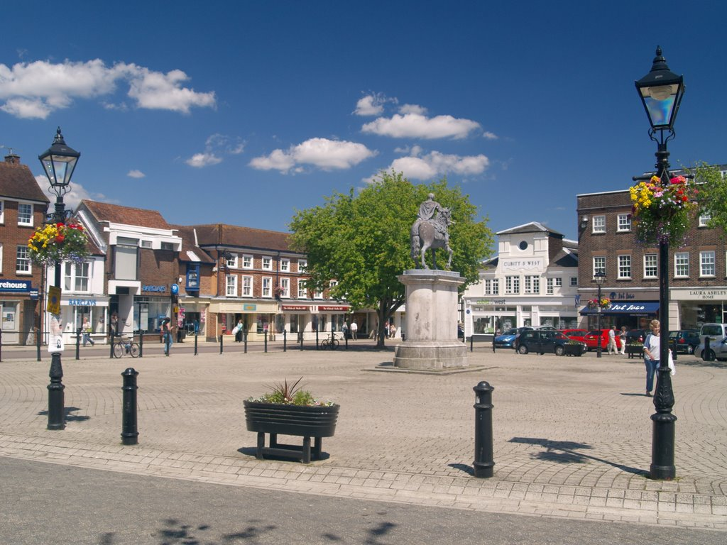 Market Square, Petersfield, Hampshire, UK