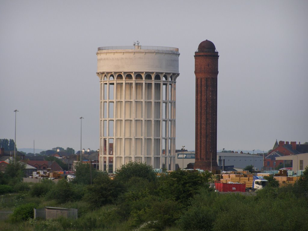 Water Towers Goole, Nicknamed Salt & Pepper Pots