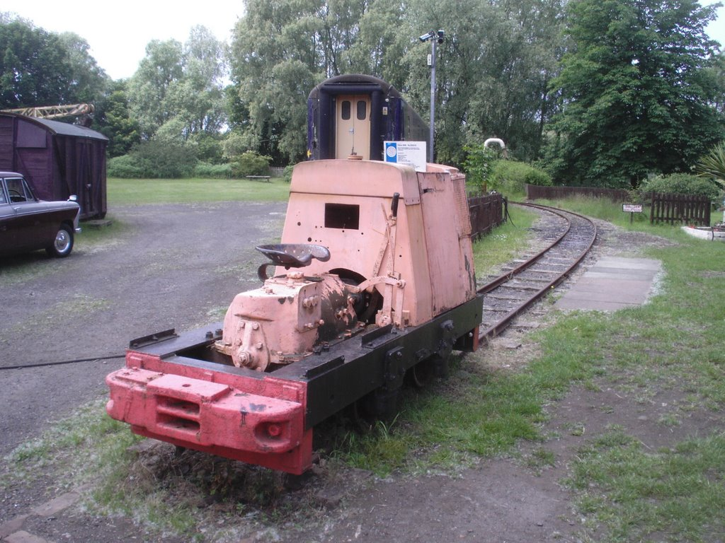 Weird loco on the narrow guage railway