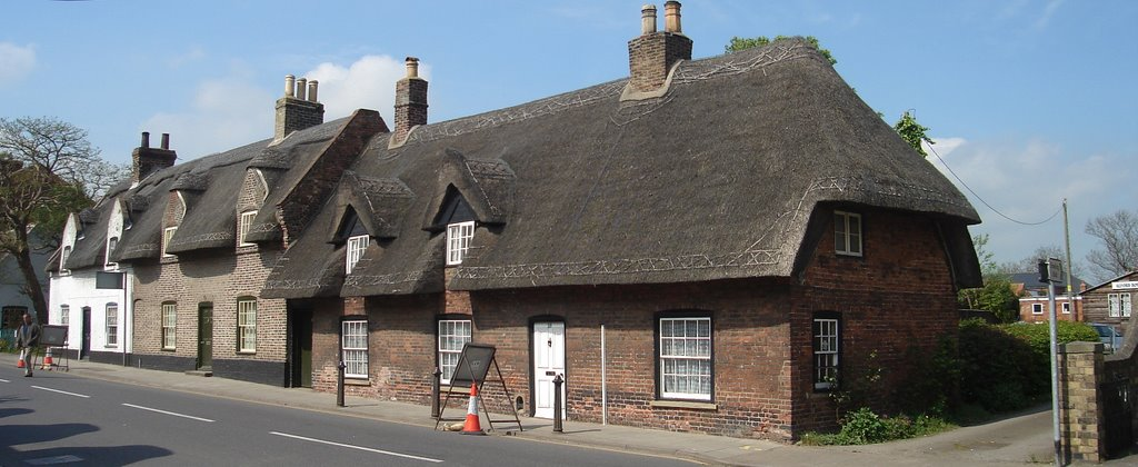thatched cottages at Alford,Lincolnshire