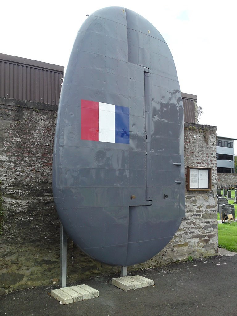Tail fin from an Avero Shackleton in commemoration in memory of all those who served on RAF stations throughout the county from 1940 to 1971