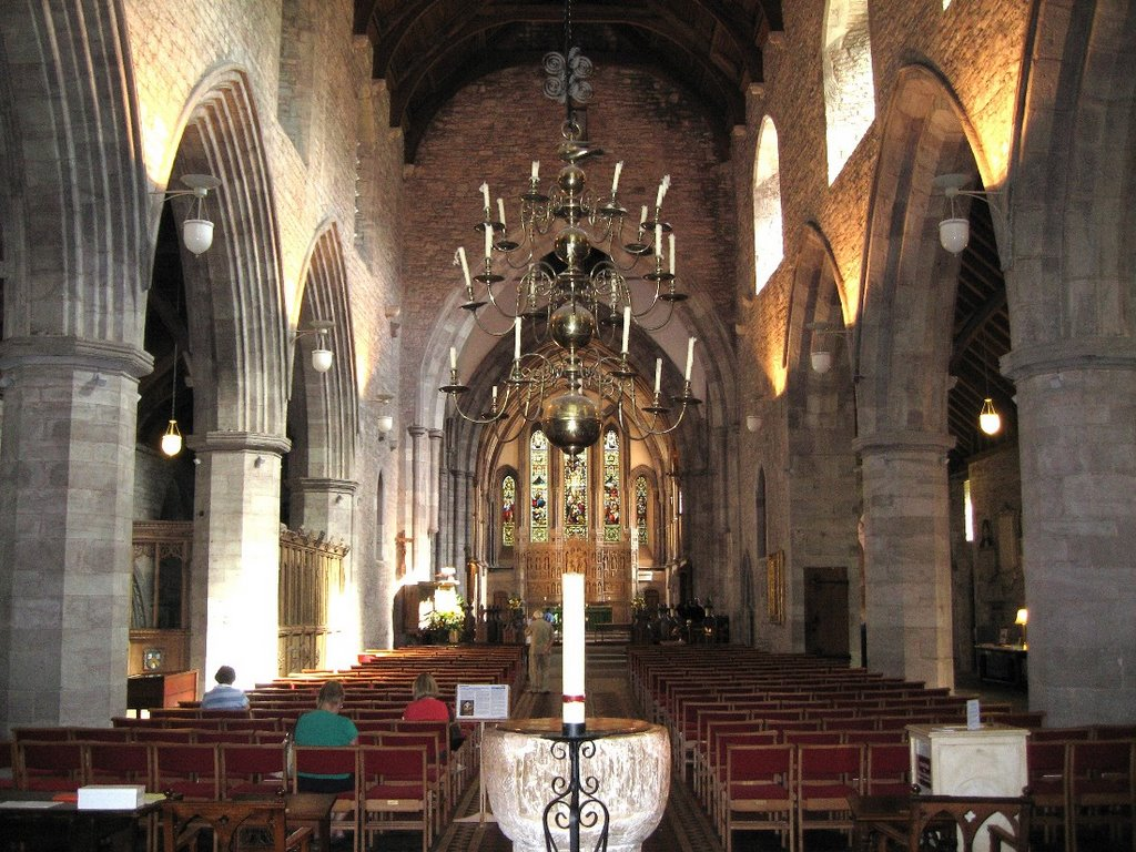 # BRECON CATHEDRAL (interior).