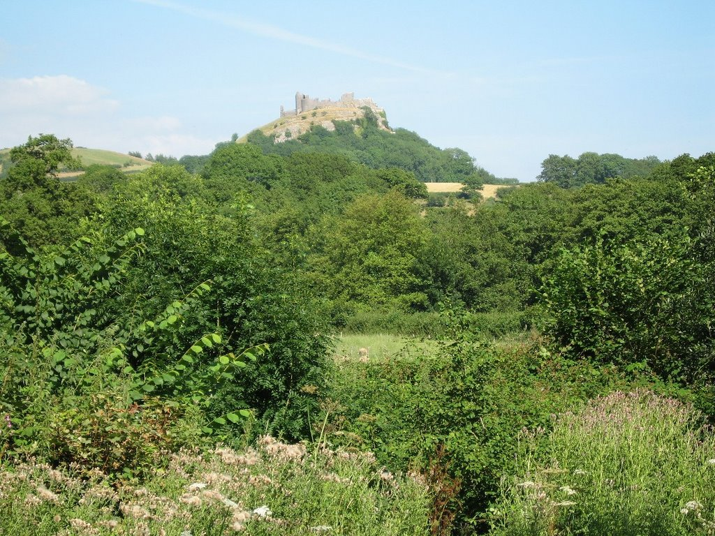 # CARREG CENNEN CASTLE from Trapp.