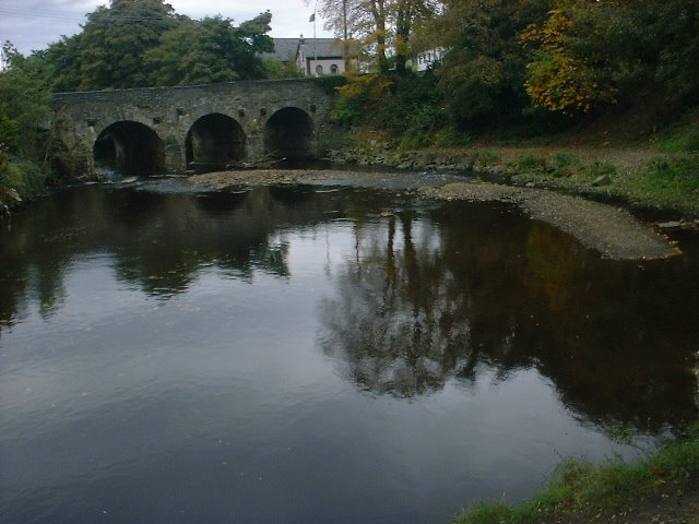 Drumahoe Bridge pool River Faughan 2001