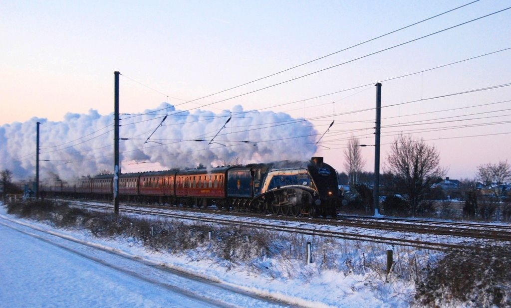 Sir Nigel Gresley at Langford on a winters morning