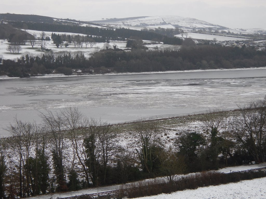View of ice sheet on the River Foyle, Londonderry