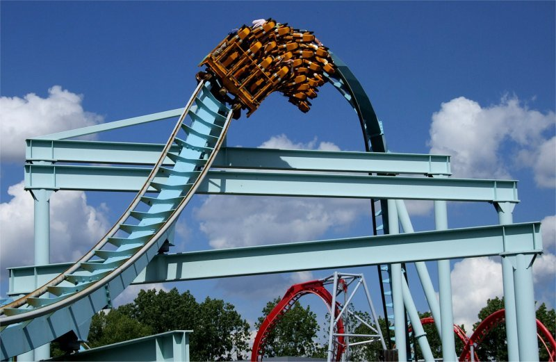 Shockwave (Stand Up Rollercoaster), Drayton Manor Park, nr Tamworth