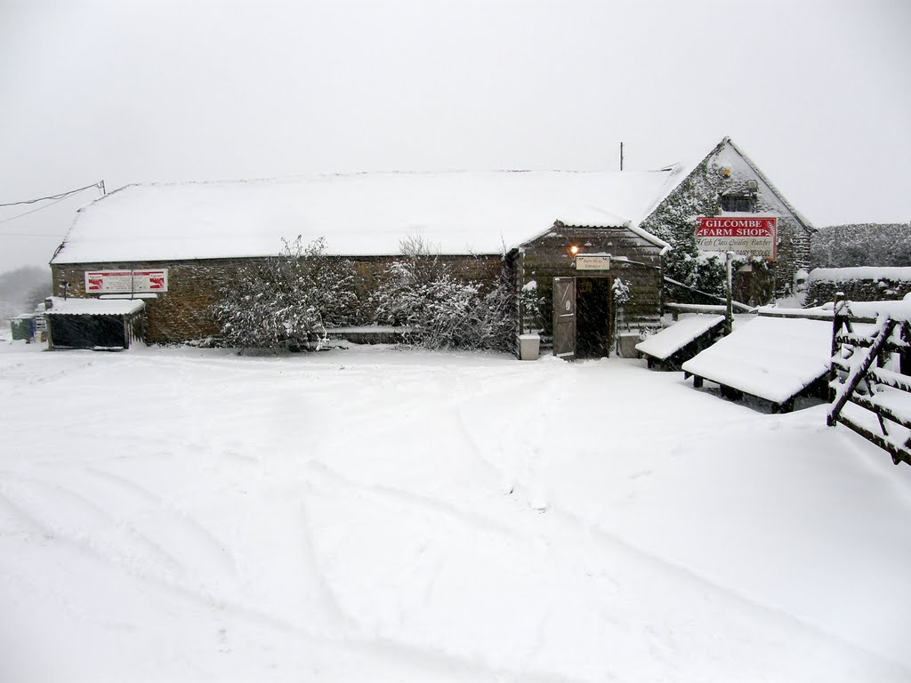 Gilcombe Farm Shop In The Snow