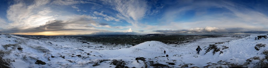 From a Top of a Slemish Mountain Panorama