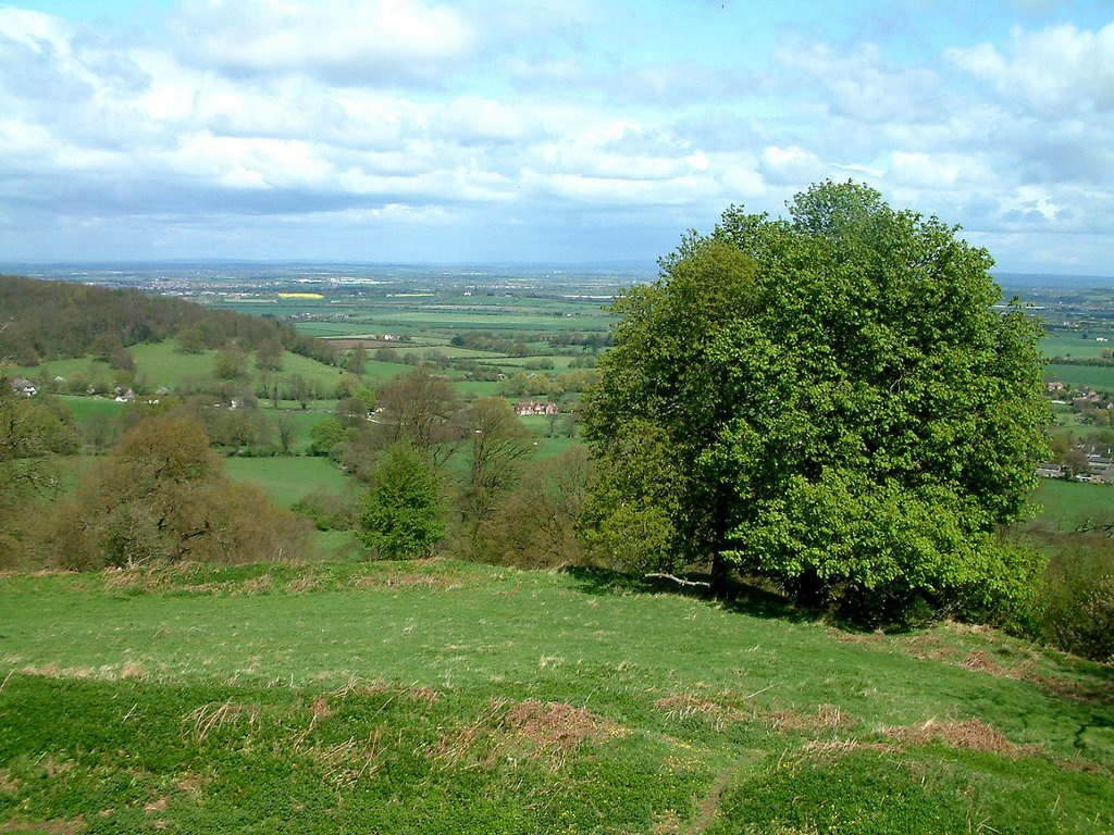 Bredon Hill, looking north over Worcestershire