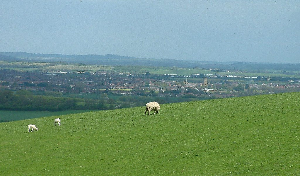 Pershore from Bredon Hill, Worcestershire