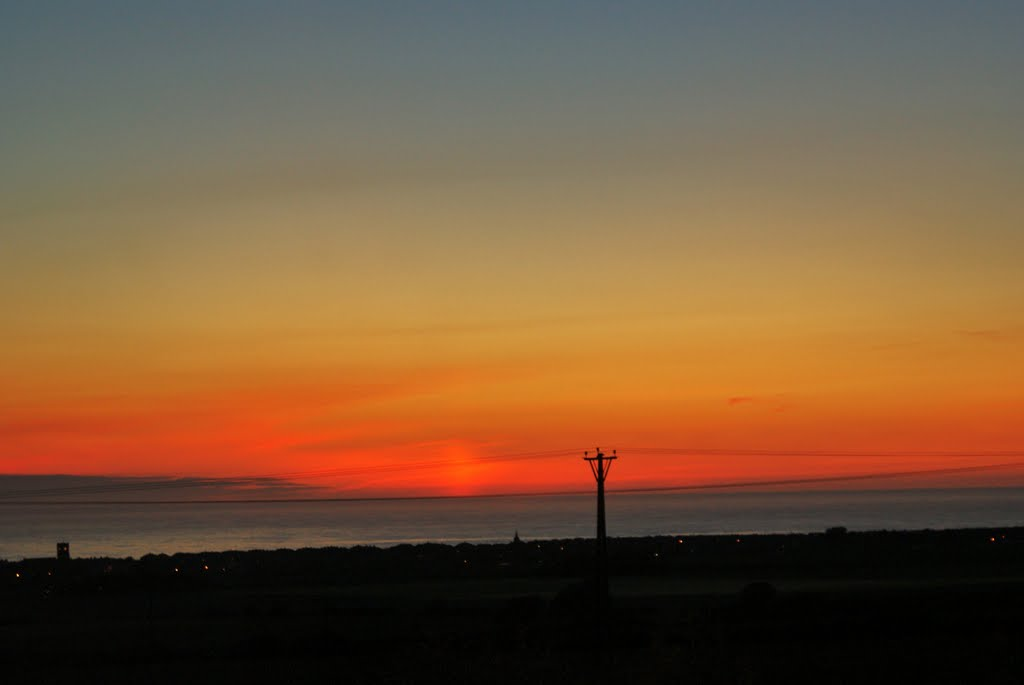 3.44am. 16/6/2010  Dawn breaking over the North Sea.