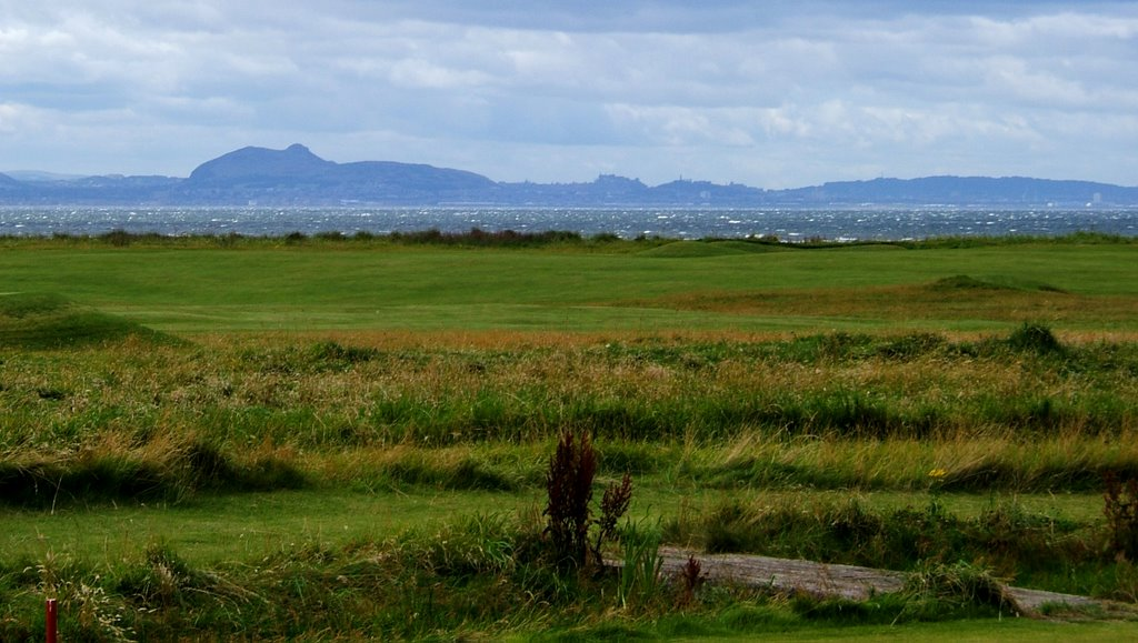 View towards Edinburgh from Craigielaw Golf Course