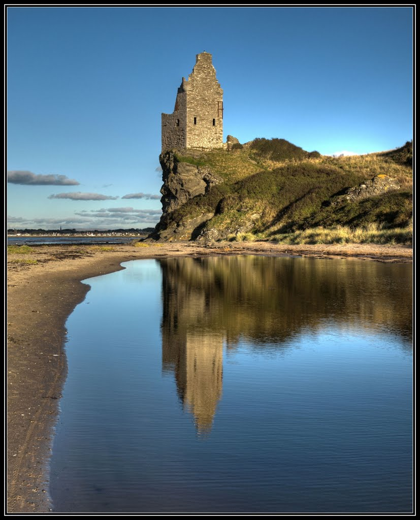 Greenan Castle reflections, Ayr.