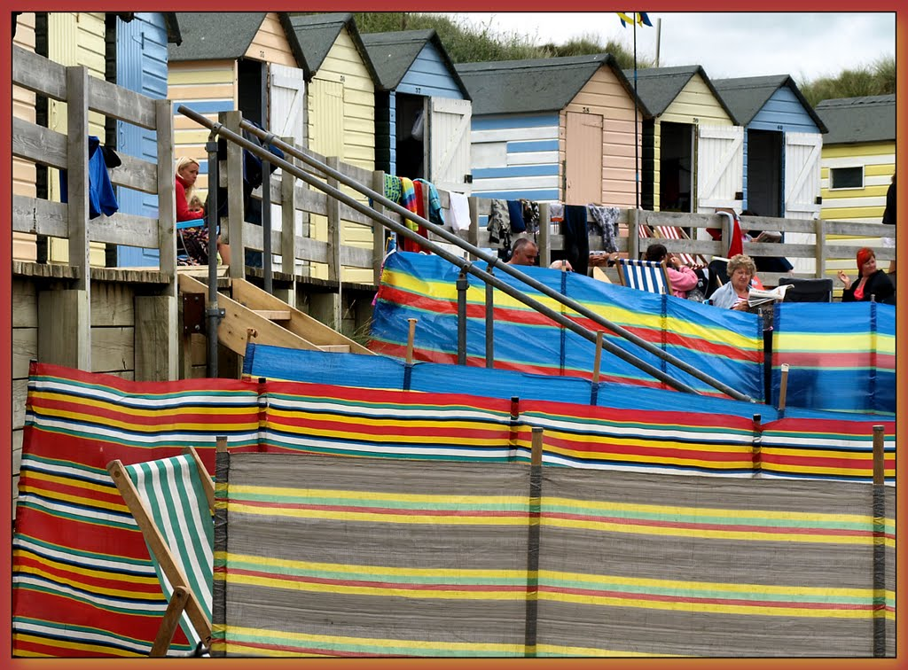 #164 Summer Time, and the beach huts are busy....UK...