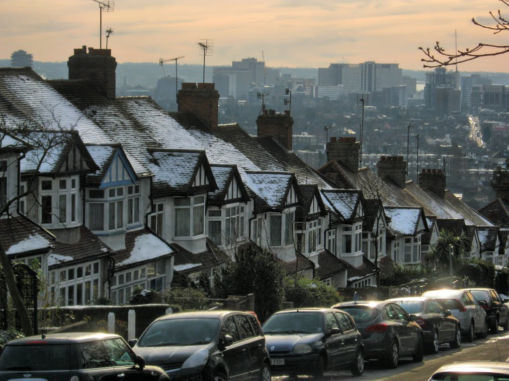 View Towards Croydon, From Ross Road & Grangewood Park