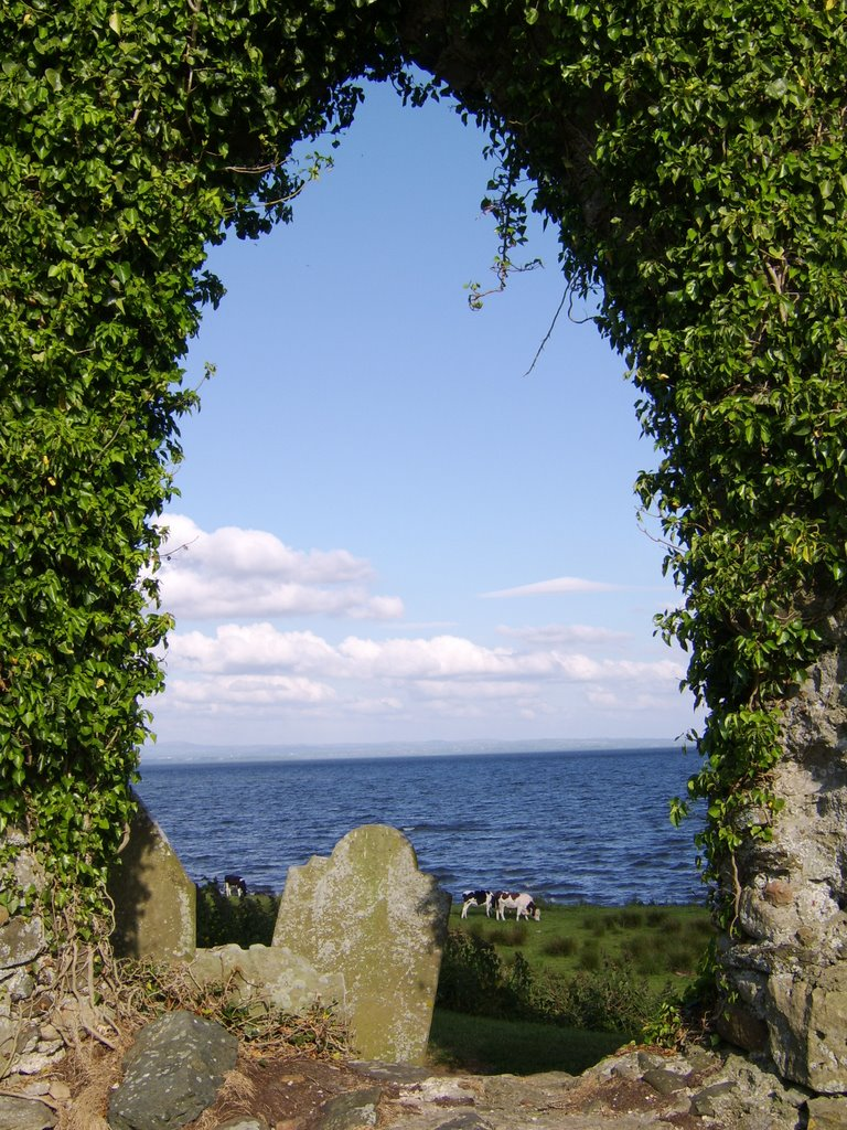 Looking out over Lough Neagh @ Ardboe Cross