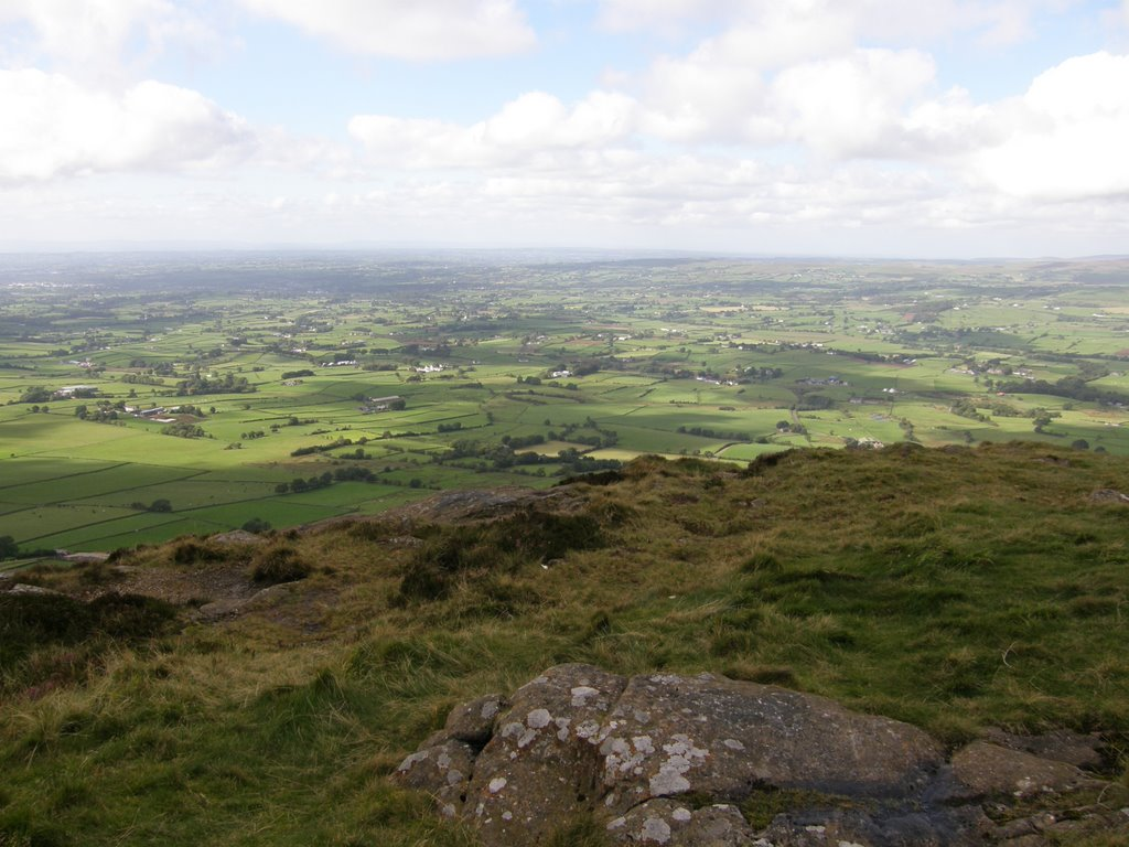west view from the top of Slemish