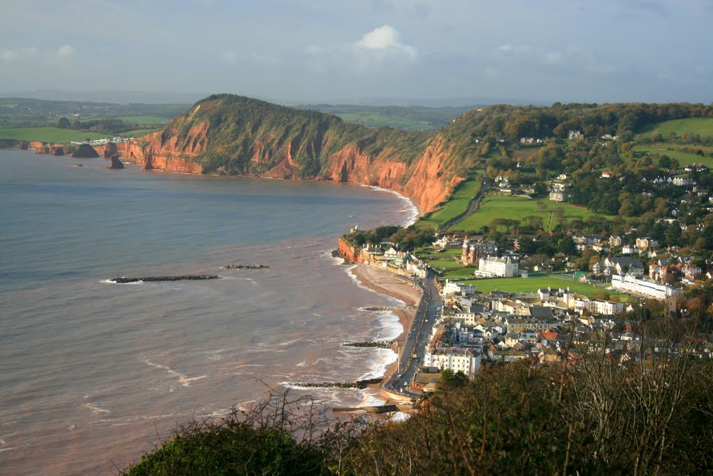 Sidmouth, High Peak and Ladram Bay from Salcombe Hill