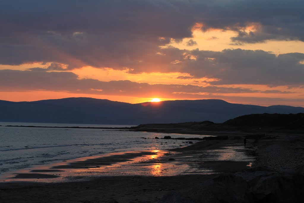 Sunset over Kintyre from Blackwaterfoot