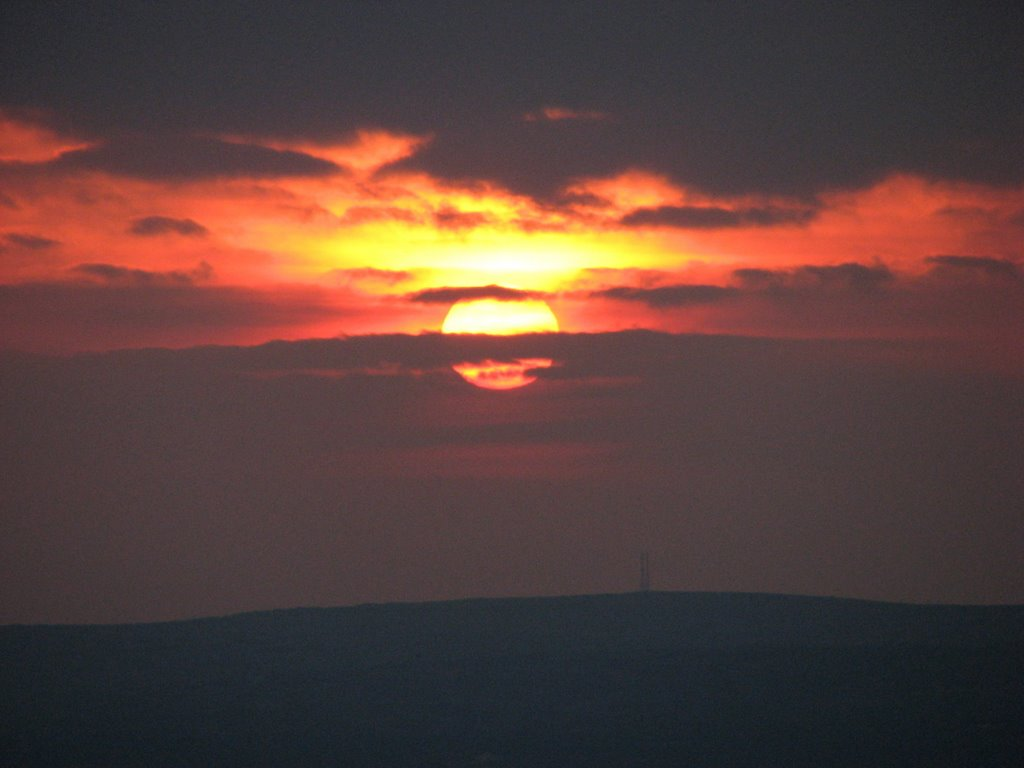 Sunset from Betws Mountain