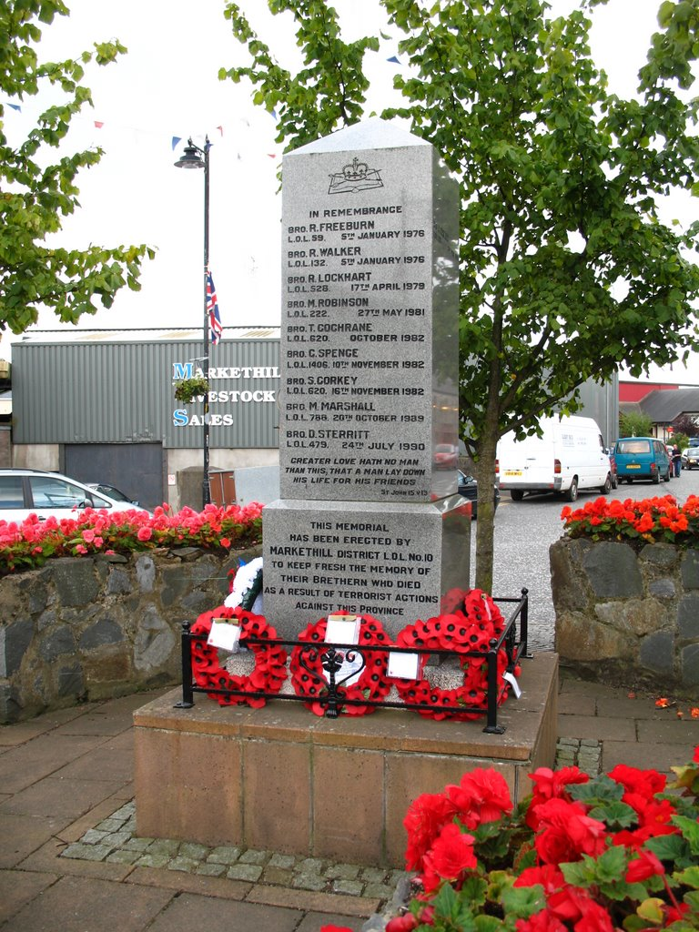 Memorial to Murdered Orangemen of  Markethill